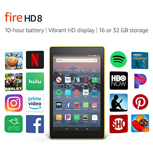 Certified Refurbished Fire HD 8 Tablet (8' HD Display, 16 GB) - Yellow (Previous Generation - 8th)