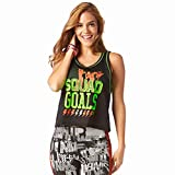 Zumba Fitness Squad Goals Cropped Jersey Mujer Tops, Todo el año, Mujer, Color Bold Black, tamaño...