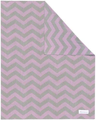 Kindsgut Manta para Niños, Manta Suave para Bebes, con zigzag, Algodón, 80 x 100 cm, Manta Acogedora para Bebes/Niños pequeños, ecológico y libre de contaminantes