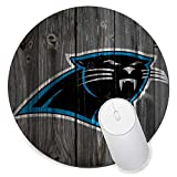 Round Gaming Mouse Pad Creative Custom Non-Slip Mouse Mat-Carolina Panthers