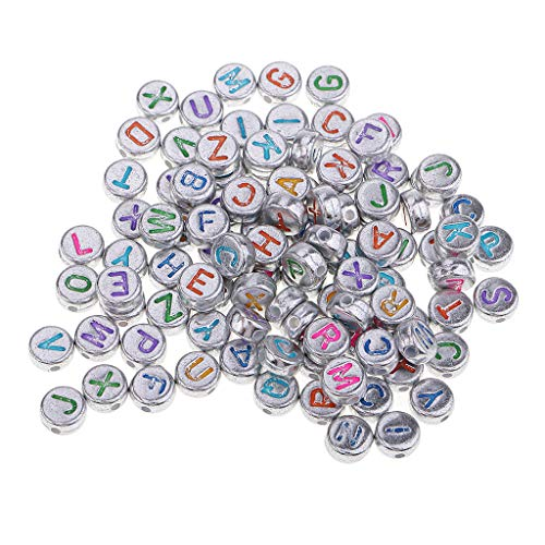 freneci 100x Multifunction Resin Alphabet Beads DIY Supply Crafts Ornaments Kid Gift