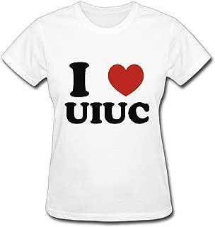 I Love UIUC Religion T-Shirt for Women Short Sleeve