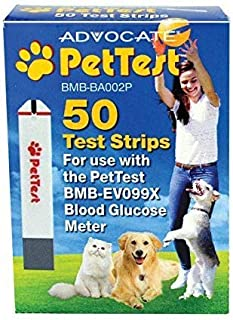 PetTest Strips Advocate - Monitoring Glucose Levels - Diabetes Testing Tools - Calibrated for Pets
