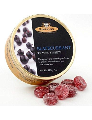 Simpkins Reise-Bonbons, schwarze Johannisbeere, 200 g, 3 Stück
