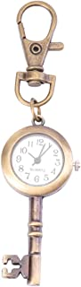 Hemobllo Chaveiro de relógio com chaveiro em formato de chave com chaveiro, relógio de bolso retrô, relógio de bolso retr...