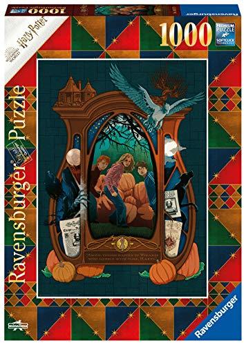 Ravensburger Puzzle 1000 pezzi, Harry Potter - Book Edition, Il Prigioniero di Azkaban, Puzzle Harry Potter, Illustrazioni Minalima, Stampa di Alta Qualità