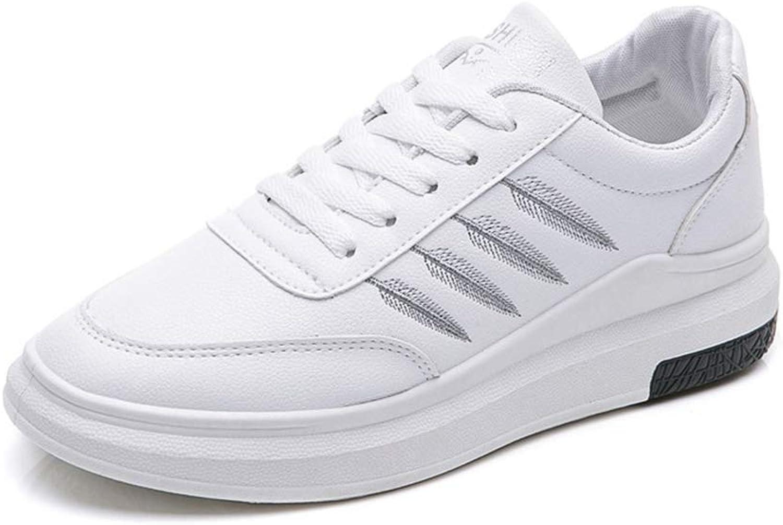 Gedigits Female Spring Platform Sneakers Women Casual Wedge Board Runway Off Sneakers Black 5 M US