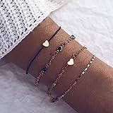 Edary Herz-Armband-Set, Kristall-Armbänder,...