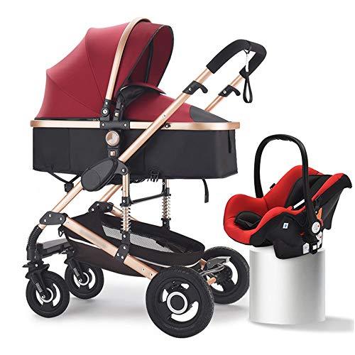 HELIn Cochecito de viaje: asiento de bebé de seguridad ligero de aluminio plegable conveniente a prueba de viento cómodo transpirable invierno cálido verano fresco adecuado
