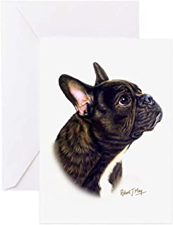 CafePress French Bulldog Greeting Card (10-pack), Note Card with Blank Inside, Birthday Card Glossy
