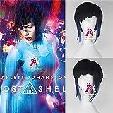 Nuovo film Ghost in The Shell Cosplay Kusanagi Motoko Parrucca nera Scarlett Johansson Parrucca corta nera Cosplay capelli con cappuccio parrucca