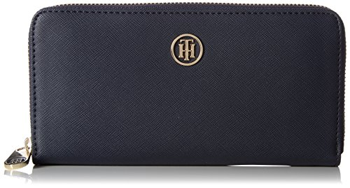 Tommy Hilfiger Damen Honey Large Za Wallet Geldbörse, Blau (Tommy Navy), 23x15x22 cm