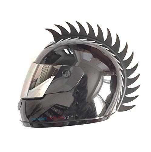 customTAYLOR33Zubehör für Motorradhelm, Design Warhawk/Mohawk zum Verzieren des Helms, Sägeblatt aus Gummi (Helm nicht im Lieferumfang enthalten) - 5