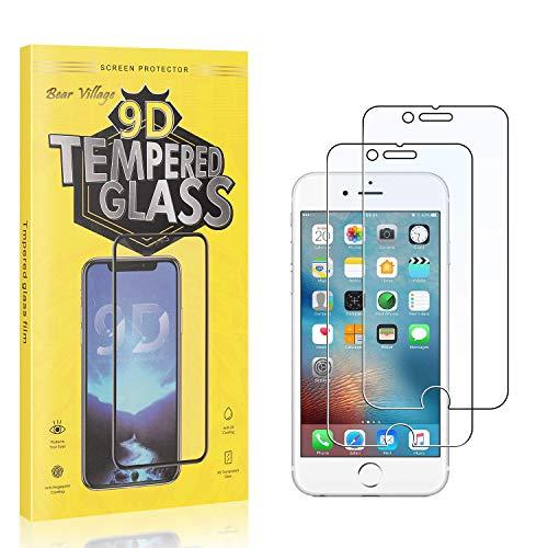 Bear Village® Displayschutzfolie für iPhone SE 2020 /iPhone 8 /iPhone 7, Blasenfrei, Anti Fingerabdruck, HD Schutzfolie aus Gehärtetem Glas für iPhone SE 2020 /iPhone 6S /iPhone 6, 2 Stück