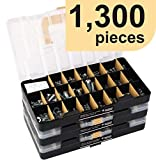 JACKSON PALMER 1,300 Piece Hardware Assortment Kit (3 Trays)
