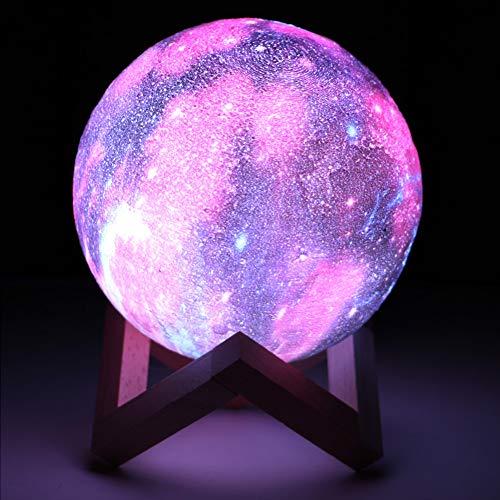 GKJRKGVF 3D-print sterren maanlicht LED Galaxy lamp 3/16 kleurverandering touch afstandsbediening LED nachtlampje hoofddecoratie cadeau