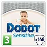 Dodot Sensitive - Baby diapers, size 3 (5 - 10 kg), 2 packs of 74, 148 diapers