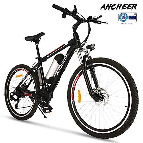 ANCHEER e Bike Elektrofahrrad Faltbares Mountainbike, 26 Zoll Reifen Elektrisches Fahrrad Ebike mit 250W bürstenlosem Motor und 36V 8Ah Lithium-Batterie Shimano 21 Gang (26ZOLL, Schwarz)