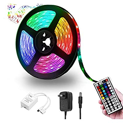 LED Strip Lights, 16.4ft Color Changing RGB LED Lights Strip, Flexible 270leds LED Tape Light with 44-Key IR Remote Controller, Ideal for Bedroom Home and Holiday Decoration