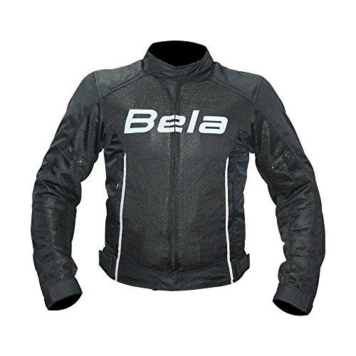 Bela Chaqueta de moto textil Panama Chaqueta de motociclista para hombre CE aprobado (Negro, M)