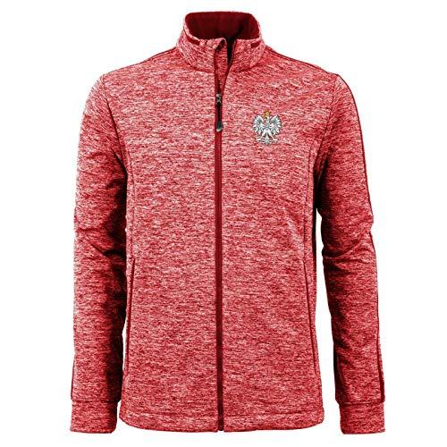 Mens Antigua Poland Red Full Zip Golf Jacket XL