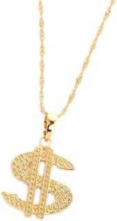 18K Gold Plated United States Dollar Money Sign Pendant Necklace