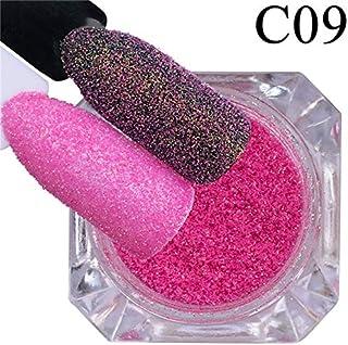 Majoxin 1 Box Nail Glitter Sugar Candy Glimmer Powder DIY Nail Art Decorations Holographic Dust Nail Flakes