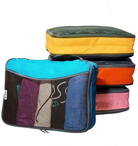 OW-Travel Organizadores de Maletas. Organizador Maleta para Bolso. Bolsas organizadores para Maletas. Organizador de Maleta para Viaje. Packing Cubes para Mochila. Organizador Viaje, 4 Colores