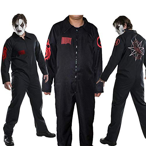 YXRL Slipknot Band Kleidung Cosplay Overall Cosplay Kostüm Halloween Slipknot Kleidung Black-XL