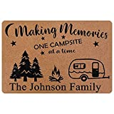 Personalized Camper Sign Making Memories One Campsite at A Time Wall Decor RV Camping Accessories for Travel Trailers Custom Vintage Metal Wooden Plaque Home Signs