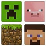 JINX Minecraft Lot de 4 boutons à épingle