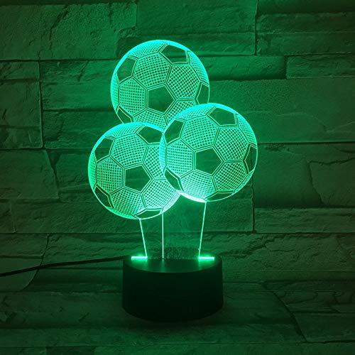 Nur 1 Stück Kinder 3d Lampe Fußball LED Nachtlicht C Ronaldo Home Deocration Luminaria Kind Junge Geburtstagsgeschenk Messi Tisch Nachtlicht Fußball