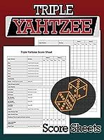 Triple Yahtzee Score Sheets: 100 Triple Yahtzee Score Pads, Triple Yahtzee Game, Yahtzee Score