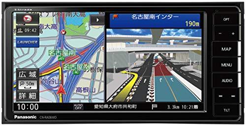 パナソニック カーナビ ストラーダ 7型ワイド CN-RA06WD 無料地図更新付/フルセグ/Bluetooth/DVD/CD/SD/USB...