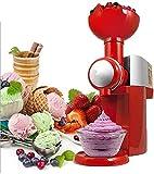 LVYE1 MRMF Máquina Hacer Helados, Ice Cream Maker Machine, Máquina De Helado Casera, Maquina De Yogurt, Fácil De Limpiar, Rojo