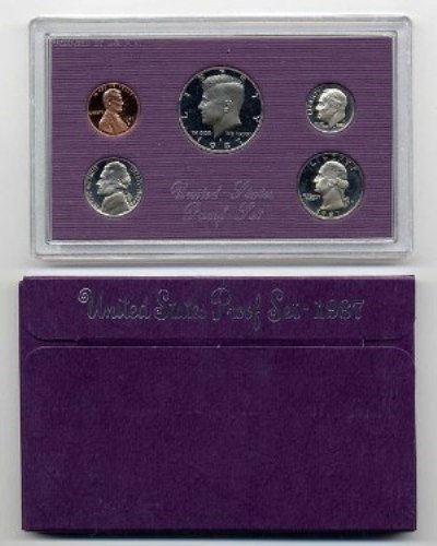 1987 S US 5 Piece set Proof In original packaging from US mint Proof