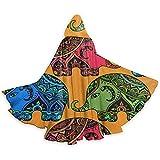 Not Applicable Elefantes Indios Tribales Imprimir Capa con Capucha Unisex Capa Larga con Capucha Disfraces de Fiesta de Halloween Navidad Cosplay Negro