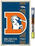 Trends International NFL Denver Broncos - Retro Logo 14 Wall Poster, 22.375' x 34', Poster & Clip Bundle