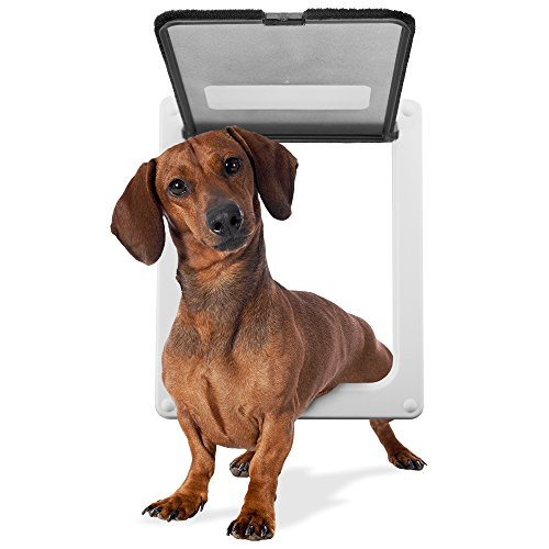 Weebo Pets Medium Breed Locking Pet Door - 11' x 9' Opening with Hard Plastic Flap