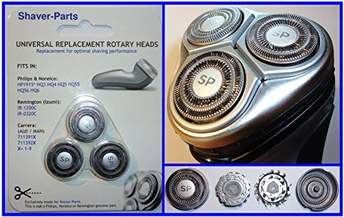 HQ3 (HP1915*) HQ4 HQ5 HQ55 & HQ56, Alternative Neue Scherköpfe passend für bestimmte Philips Rasierer