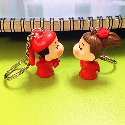 LINGNING One Pair Key Chain Alloy Arrow Bow Love Keyrings Key Chains Lovers Ring Couples Keychain For Gift (Color : S)