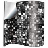 Tile Style Decals 24 Pz Nero Bianco Adesivi per Piastrelle Formato 15 x 15 cm Cucina Adesivi per Piastrelle per Bagno Cucina Adesivi - Coperture per Piastrelle in Vinile Piatto Stampato in 2D Sottile