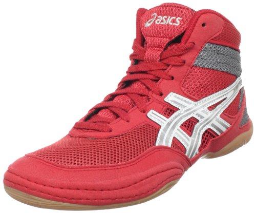 ASICS Men's Matflex 3 Wrestling Shoe,Red/ Silver/Charcoal,11.5 M US