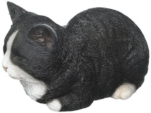 Hi-Line Gift Ltd - Estatua de Gato Dormido, Color Negro y Blanco