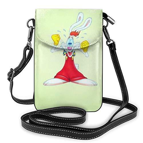 Wer gerahmt Roger Rabbit Leichte kleine Umhängetaschen Leder Handy Geldbörsen Reisetasche Umhängetasche Brieftasche für Frauen