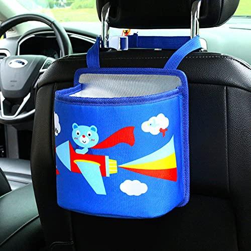 YZJC Bote de Basura de Coche Linda Oxford Asiento de Coche Bolsa Trasera Cartoon Lindo Carro Tidy Bag Hanging Coche Organizador Conveniente Cabina de Basura de Coches (Color Name : G)