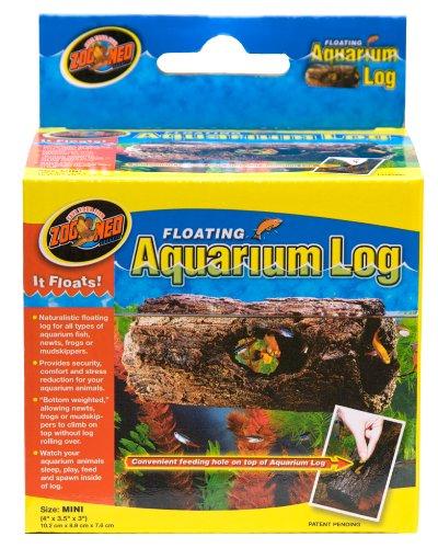 Zoo Med FA-5 Floating Aquarium Log, schwimmendes Versteck für Fische und Amphibien