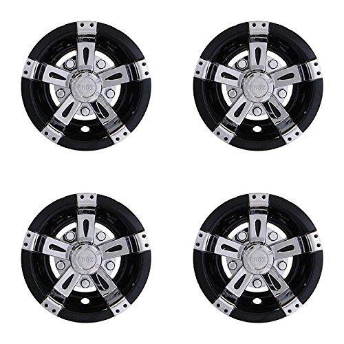 "Parts Direct Wheel Cover, 8"" Vegas Silver Metallic w/Black"