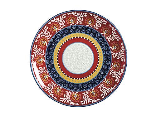 Maxwell & Williams Plateau rond boho en céramique, dans une boîte cadeau, multicolore, 36,5 cm
