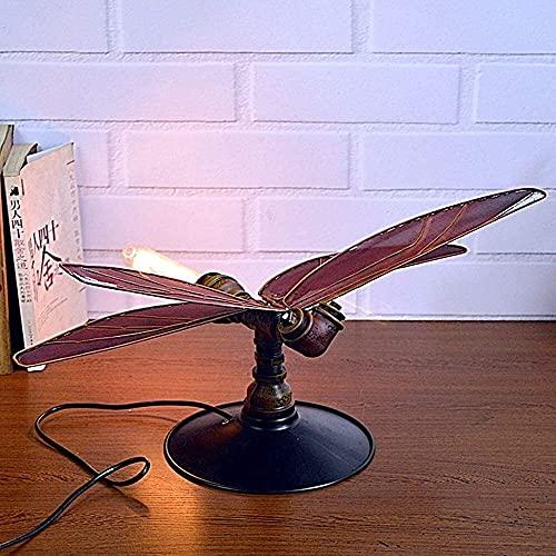 nakw88 Lámpara Escritorio Muebles creativos para el hogar Hierro Libélula Lámpara de Mesa de Agua Bar Internet Café Vino Iluminación Decorativa Personalizada 23 * 58 * 27 cm